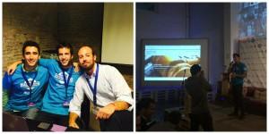 Equipo SynGravity: Edu Royes, Toni Sánchez y Gabriel Rosiñol.